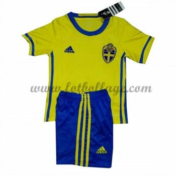 Sverige Barn Landslagströja 2016 Hemma Matchtröja