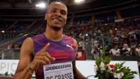 Le Canadien Andre De Grasse a remporté l'épreuve du 200 m à la rencontre d'athlétisme de Rome en Diamond League,...