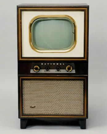 Photograph of 17-inch monochromatic TV from 1952