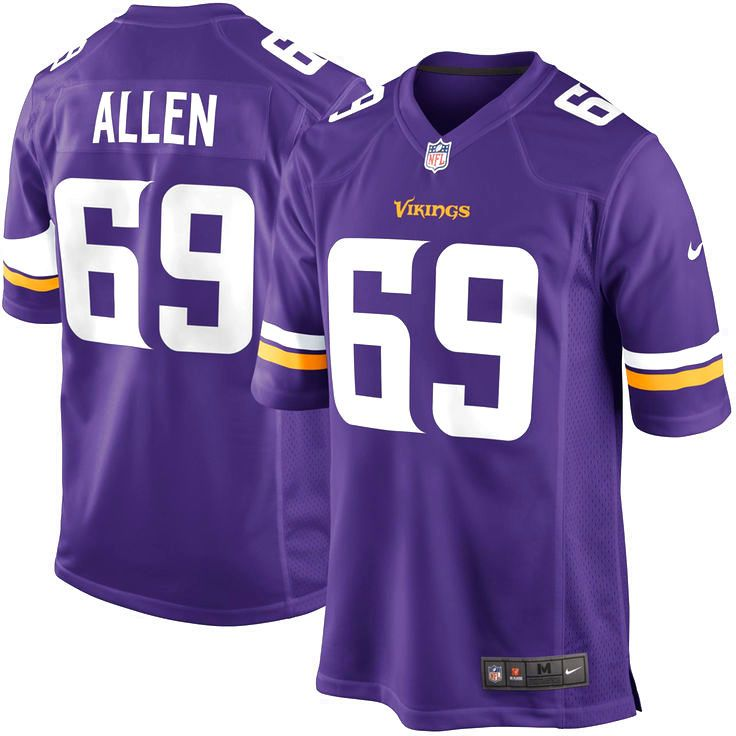 Nike Jared Allen Minnesota Vikings Youth New Game Jersey - Purple - $37.99