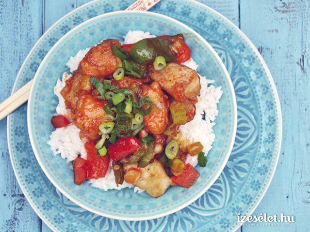 Édes-savanyú kínai csirke