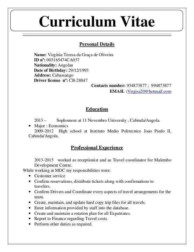 5 Curriculum Vitae En Ingles En 2020 Modelos De Curriculum Vitae Curriculum Vitae Curriculum En Ingles
