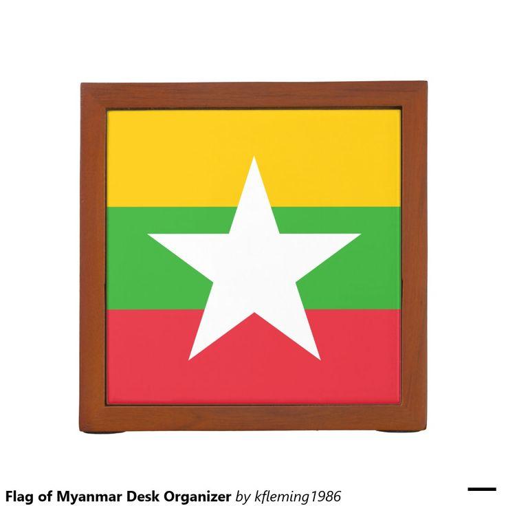 Flag of Myanmar Desk Organizer