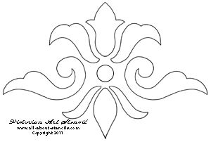 Simple Victorian Border | Here is a typical yet simple Victorian Art Stencil. Most designs of ...