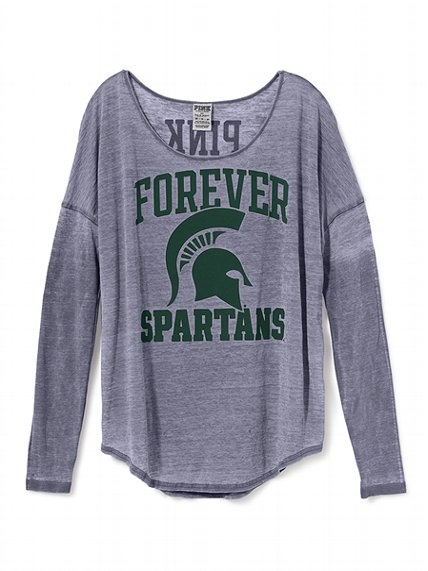 Victoria's Secret PINK Michigan State Long-sleeve Drapey Tee