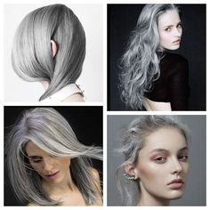 The silver hair trend works on dichotomies: it blends youthfulness with maturity, it looks both natural and artificial, it's soft and strong. The latest variation on the trend involves blending dif...