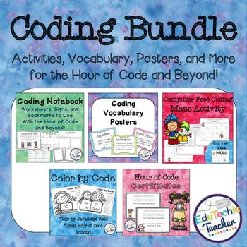 Five great resources to teach your students all about code! Use these with the Hour of Code or any coding course to help your students get more out of coding!