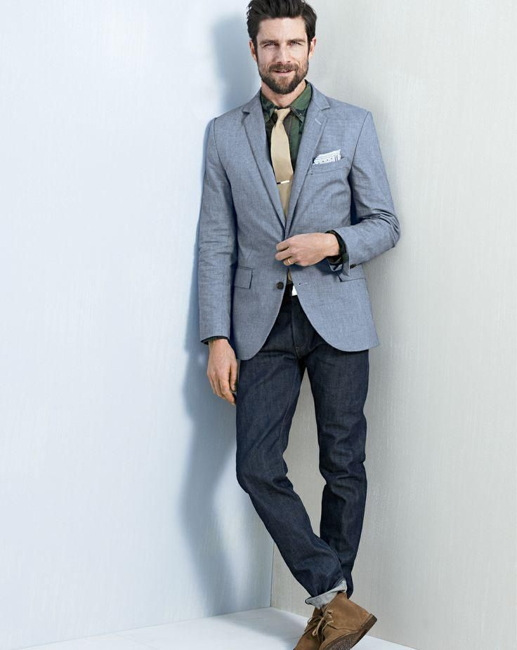 Linen Sport Coat With Jeans