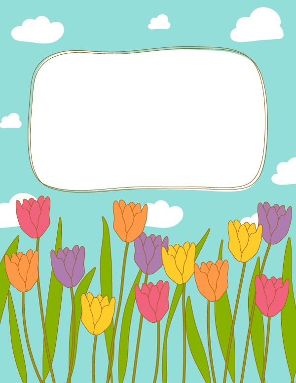 free printable tulip binder cover template  download the cover in jpg or pdf format at