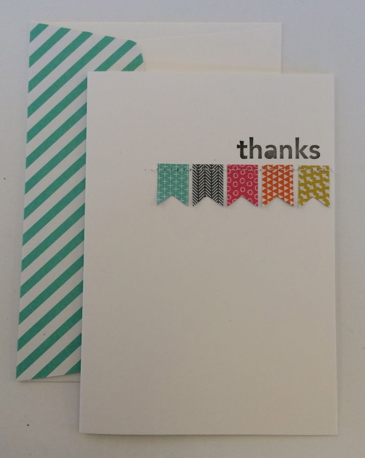how to write thank you notes for wedding gift cards%0A Cute little banner thank you card