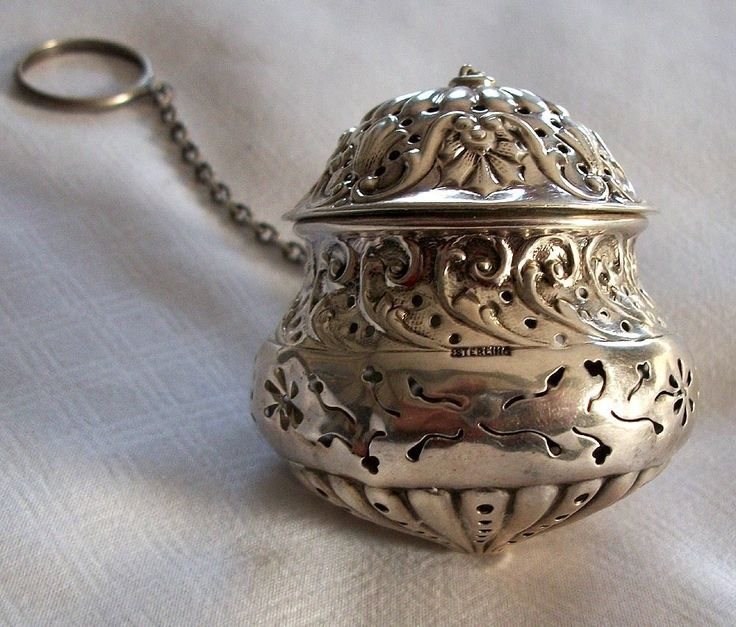 Tea Ball  (Teaball) Sterling by Gorham Excellent Repousse Design #Gorham