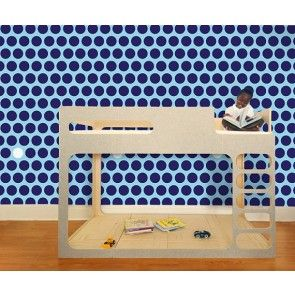 Pop & Lolli - Dottiliscious Wall Paper - Navy Bubble