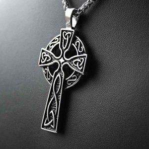 #Přívěsek #keltský #kříž , vyrobený z #chirugiké #oceli