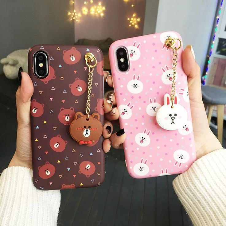 Bear and bunny phone case for iphone66s6plus77plus8