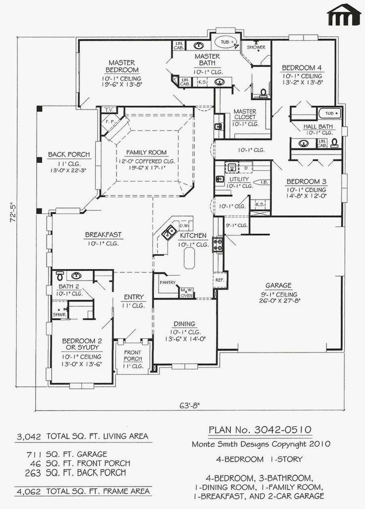 Modern House Plans No Garage E Story House Plans Without Garage New Modern House And In 2020 Contemporary House Plans Porch House Plans Narrow Lot House Plans