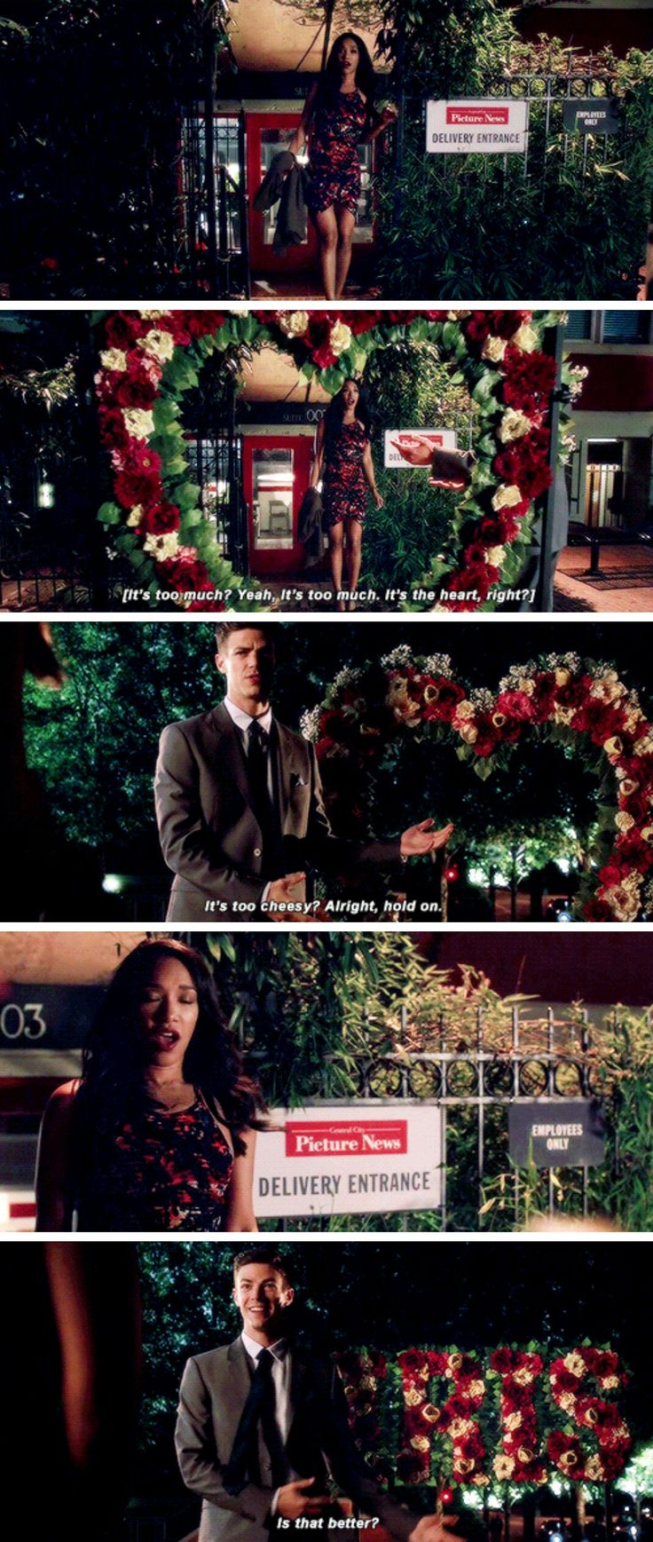 """It is so beautiful, and you are so sweet. But tonight I wanna be with you, Barry Allen, not the Flash."" - Iris and Barry #TheFlash"