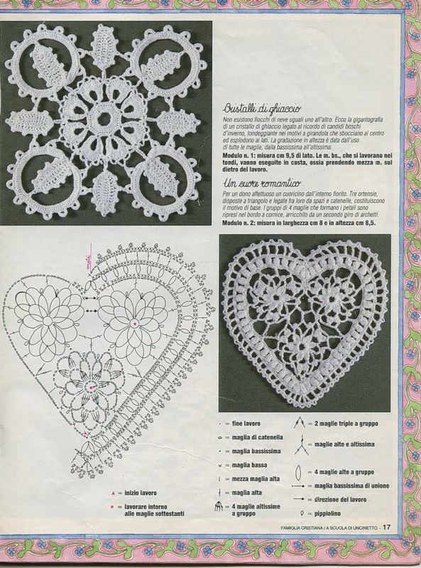 a scuola di uncinetto - Famiglia cristiana  Crochet lace, more patterns in crochet books