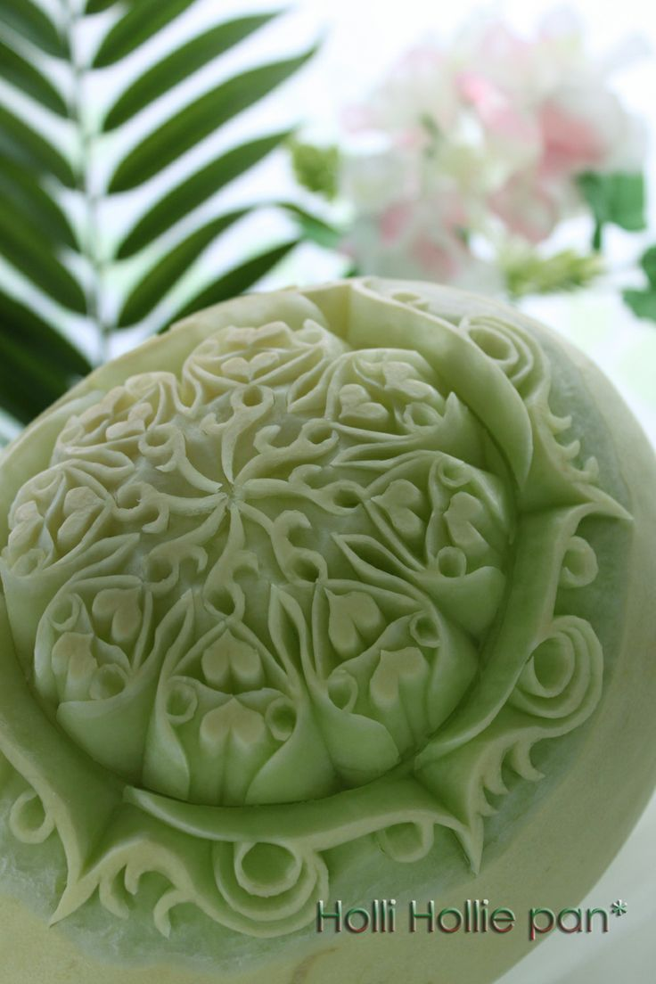 Honeydew Melon Carving Fruit Carving Pinterest