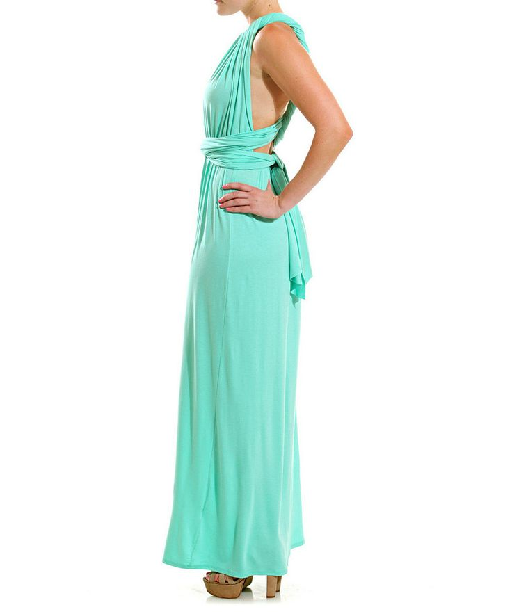 Mint Asymmetrical Gown | zulily