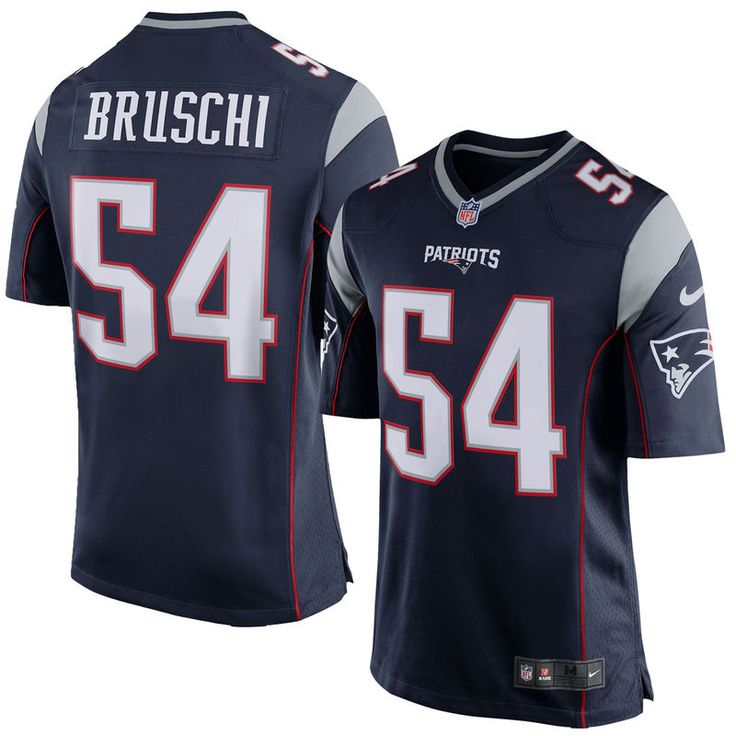 Tedy Bruschi New England Patriots Nike Retired Player Game Jersey - Navy Blue