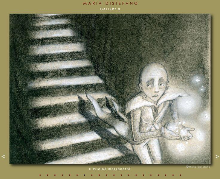 """Maria Distefano illustration for """"Il Principe Mezzanotte""""."""
