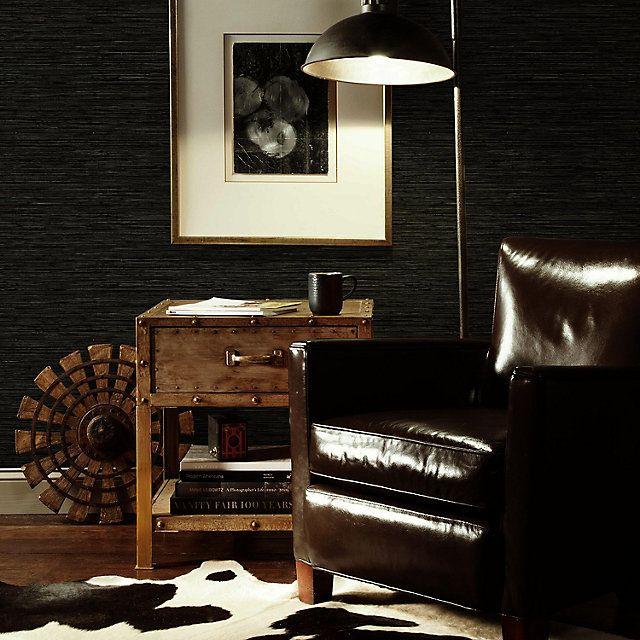 Roommates Faux Grasscloth Peel Stick Wallpaper Kohls Wallpaper Living Room Accent Wall Accent Walls In Living Room Brown Accent Wall