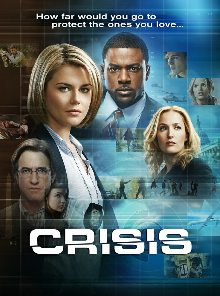 Crisis tv series (2014)Crisis (TV Series 2014– )Centers on an idealistic Secret Service agent who finds himself at the center of an international crisis on his first day on the job. In his search for the truth, he will have to cross moral and legal lines as he navigates the highest levels of power and corruption.  (NBC)