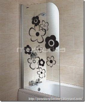 ideas vinilos para decorar el baño