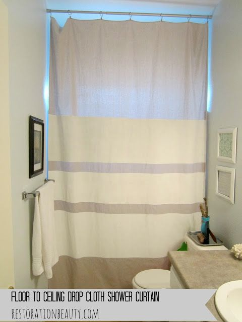 Floor To Ceiling Drop Cloth Shower Curtain Drop Cloths Cloths And Ceilings