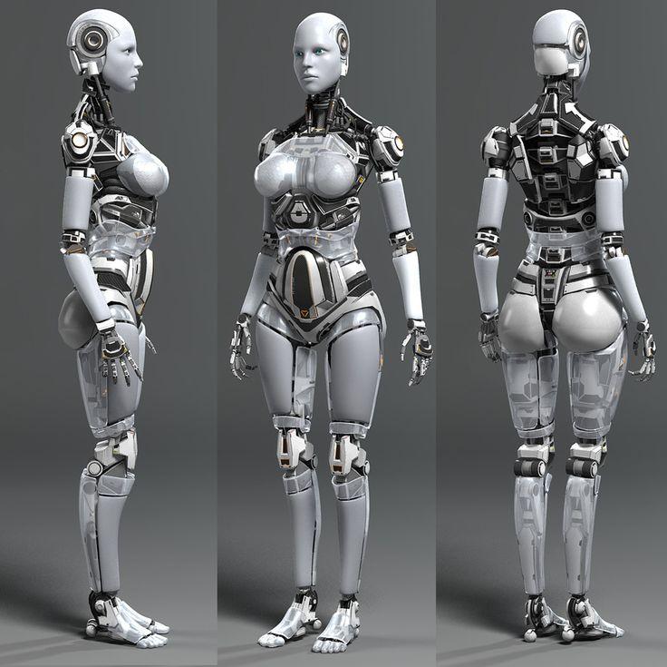 CGTalk - Female Robot, Andrew Crawshaw (3D)