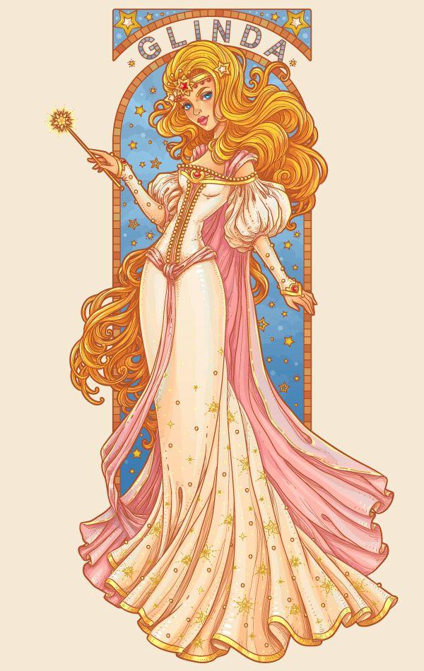 Art Nouveau Illustrator Tutorial - Glenda the Good Witch