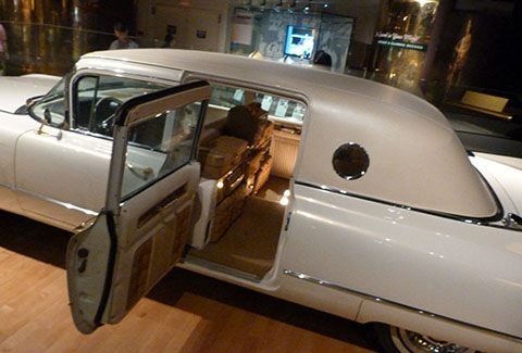 Elvis' car in Nashville museum. This is his fancy car that has ice makers, shoe shiner, record player and an intercom plus more. You will find photos of the cars interior on this board
