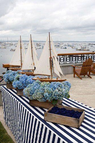 декор для свадьбы в морском стиле