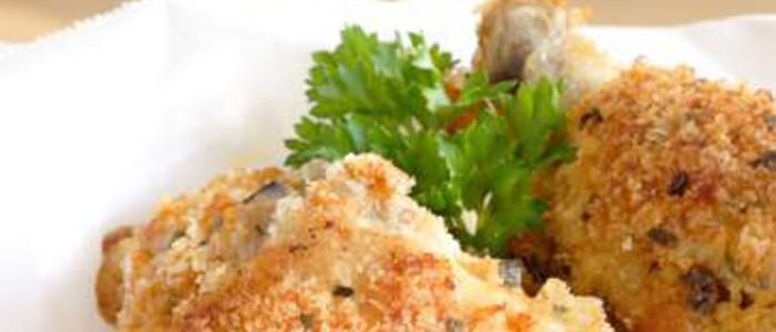 "Winning ""Fried"" Chicken - Per Serving: 173 Calories, 29 g Protein, 9 g Carbohydrates, 2 g Total Fat, <1 g Saturated Fat - See more at: http://www.biggestloser.com/recipe-detail/winning-fried-chicken#sthash.vyU5d9Mp.dpuf"