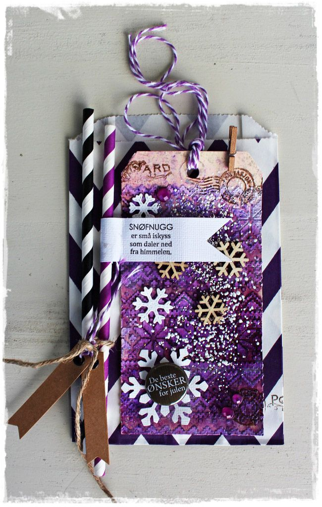 Andrine og Marens Landhandleri, anma.no - Blog - Purple Paperbag card by Dt Bente. Stamps from MagicMonday.no