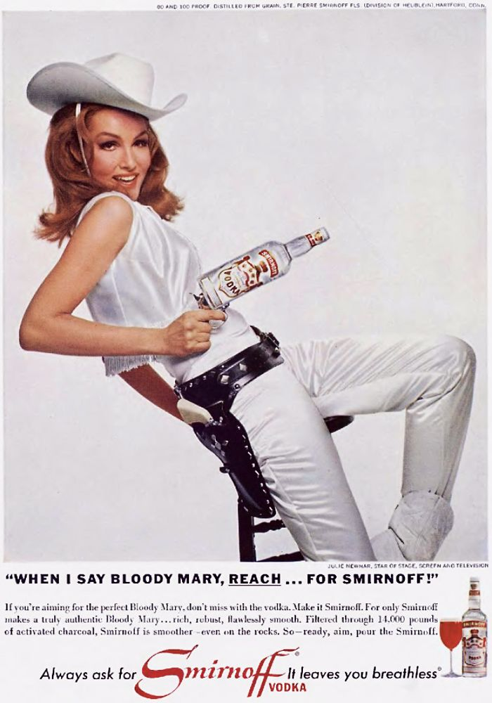 "20th-century-man: "" Julie Newmar; ad for Smirnoff, 1960's. """