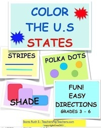 Kinesthetic activities for learning the states' names, shapes and capitals. Fun!!