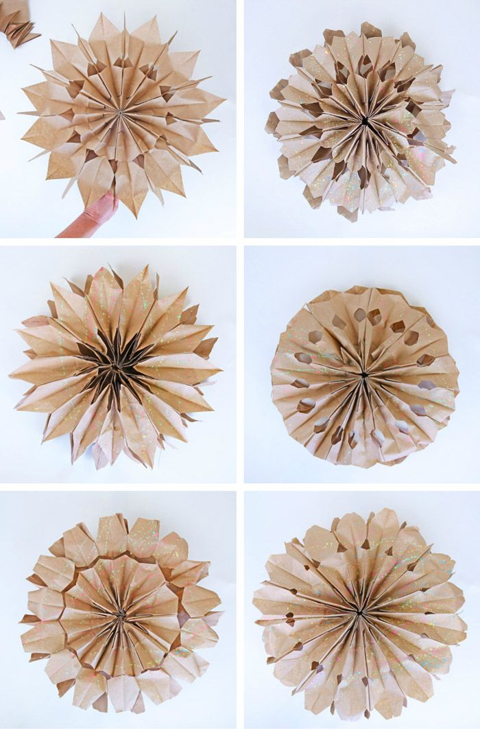 How To Make Paper Stars From Lunch Bags Paper Bag Crafts Paper