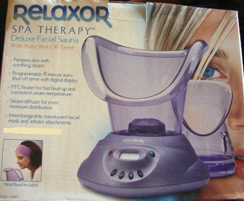 Relaxor Spa Therapy Deluxe Facial Sauna with Auto ShutOff Timer Pampers Skin with Soothing Steam <3 Find out more by clicking the image
