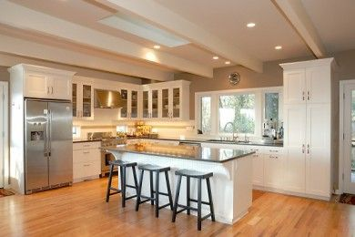 love this kitchen, i hope the remodelers are enjoying this,,,love it.... walking on sunshine:-)