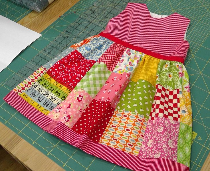 patchwork dress made with a charm pack