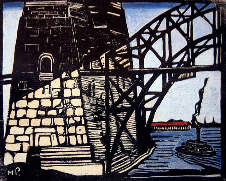 Bridge Pylon from Ferryboat, Margaret Preston