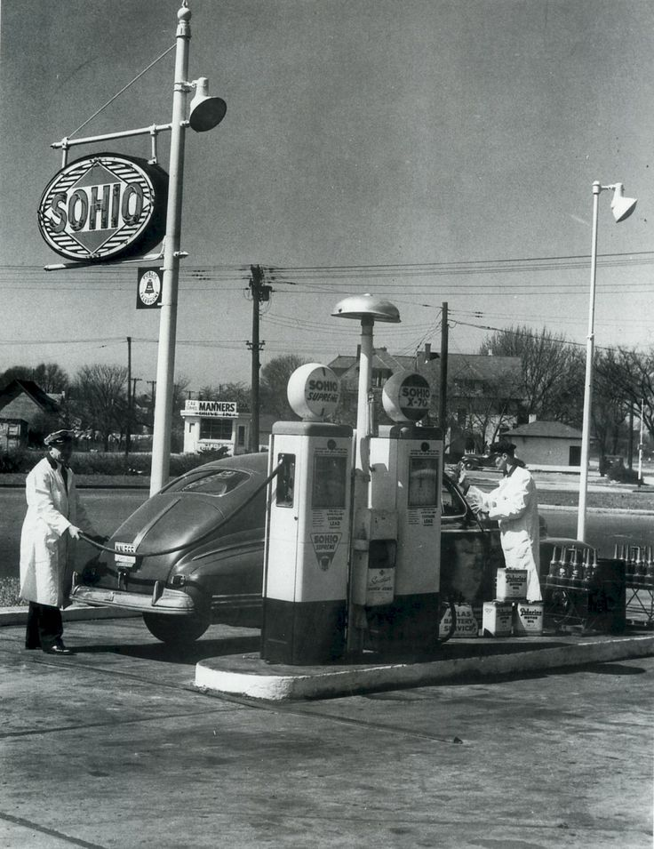 Sohio Station 1940's (With images) Old gas stations