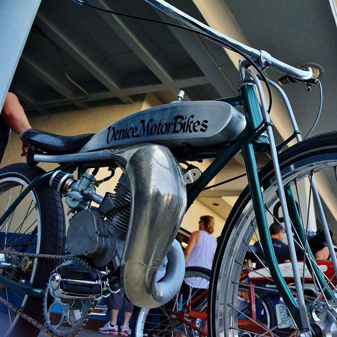 1938 Schwinn motorized bicycle built by Venice Motor Bikes