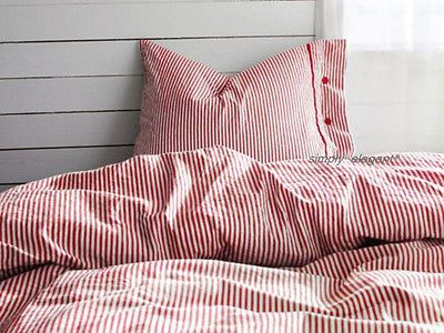 Ikea Nyponros Duvet Quilt Cover 2 Pc Set Red Classic