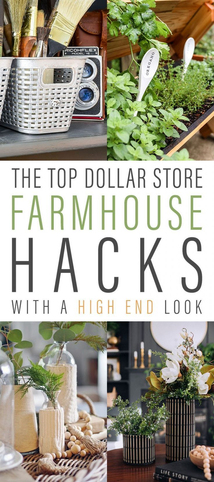 The Top Farmhouse Dollar Store Hacks With a High E…