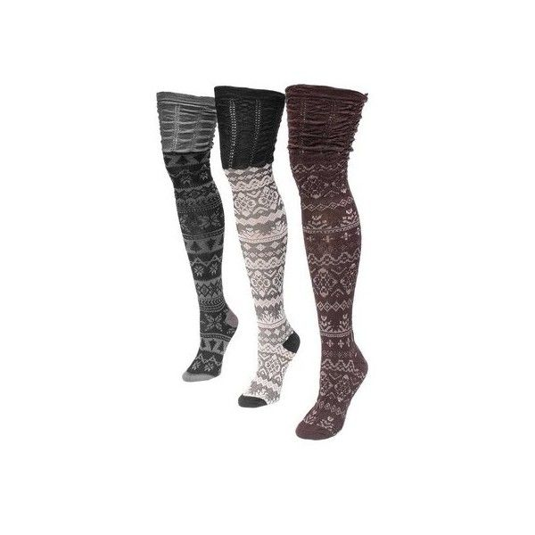 dec3190e8b3 Women s MUK LUKS Microfiber Over the Knee Socks ( 24) ❤ liked on Polyvore  featuring