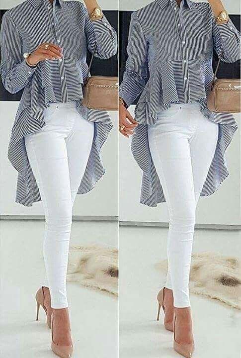 af25c126e938 Blusa, blouse, tops, hi- lo | vestuario casual | Ropa, Blusas y ...