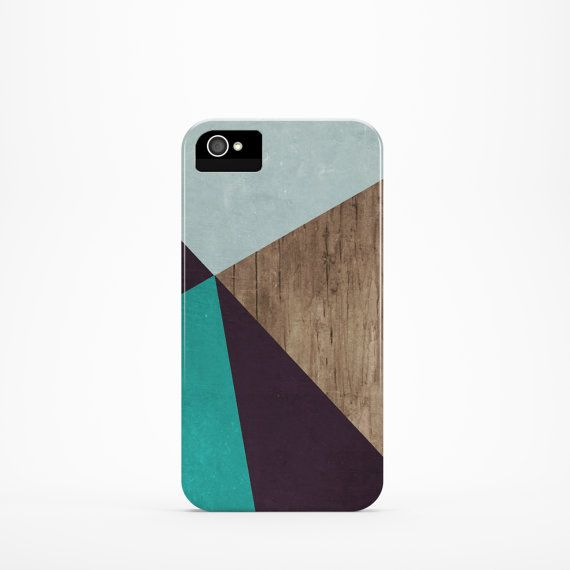 iPhone 4/4s – iPhone 5/5s – iPhone 6.  Beautiful case for your iPhone with geometric pattern on printed wood.    >>PLEASE NOTE: if the main photo is