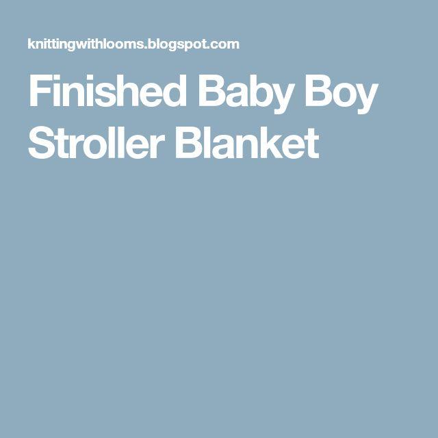 Finished Baby Boy Stroller Blanket